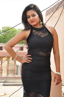 Actress Pentali Sen Stills in Black Lace Dress at Golmal Gullu Movie Pressmeet  0033.JPG