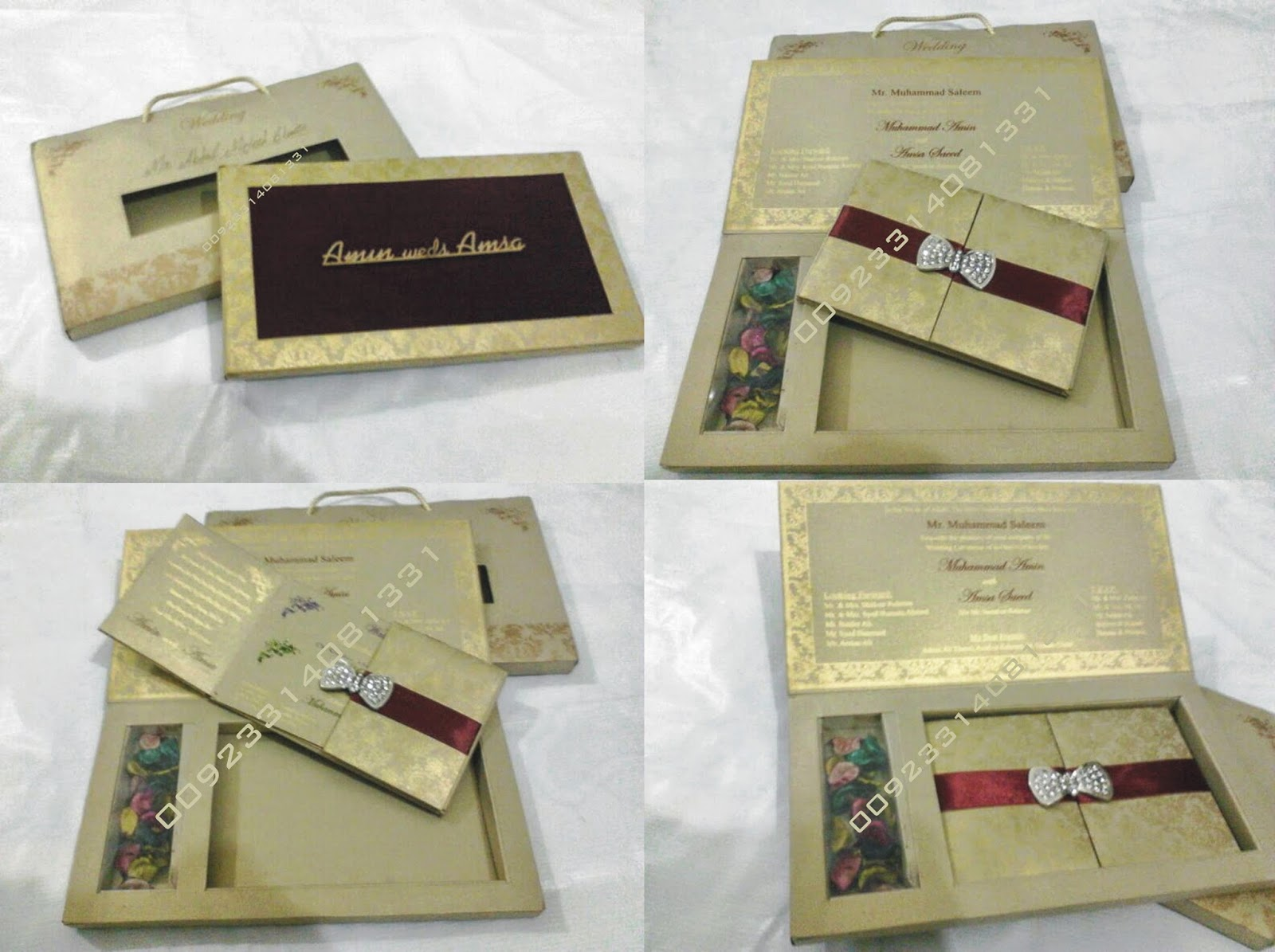 box Wedding cards Lahore