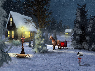 Wide screen hd wallpapers of Christmas Winter Wonder landscape hd photos gallery