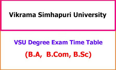 VSU Degree Time Table