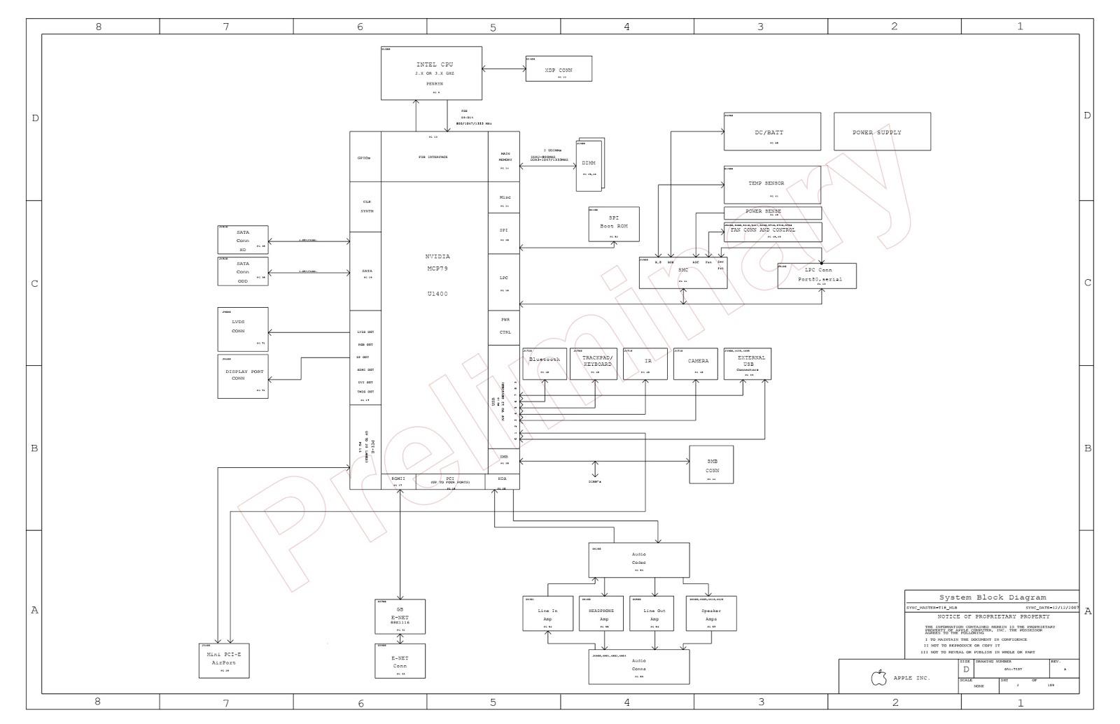 BIOS & SCHEMATIC: Schematic Apple Macbook Uni A1278 M97 A Schematic on