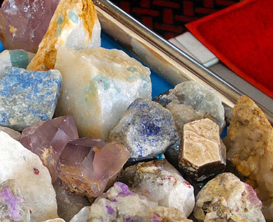 raw semi-precious stones