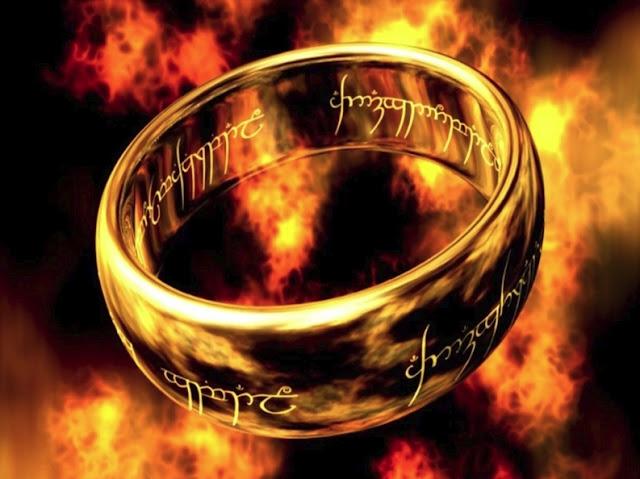 Властелин Колец: волшебное кольцо в золоте серебре и черном металле с гравированным тестом для мужчин и женщин кольцо всевластия Кольца Власти | absolute ring