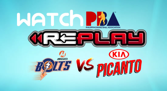 Video List: Kia vs Meralco game replay January 24, 2018 PBA Philippine Cup