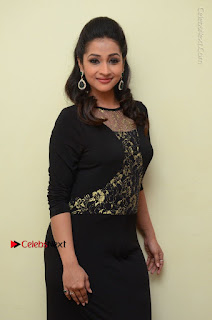 Telugu Actress Manasa Manohar Stills in Black Long Dress at Naku Nene Thopu Turumu Trailer Launch  0023.JPG