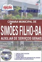 Apostila Câmara de Simões Filho 2016 Auxiliar de Serviços Gerais