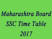 Maha SSC Exam Time Table 2017