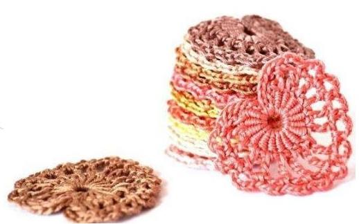 Patrón #1383: Figura de Corazón a Crochet