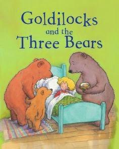 Goldilocks and the three bears story book