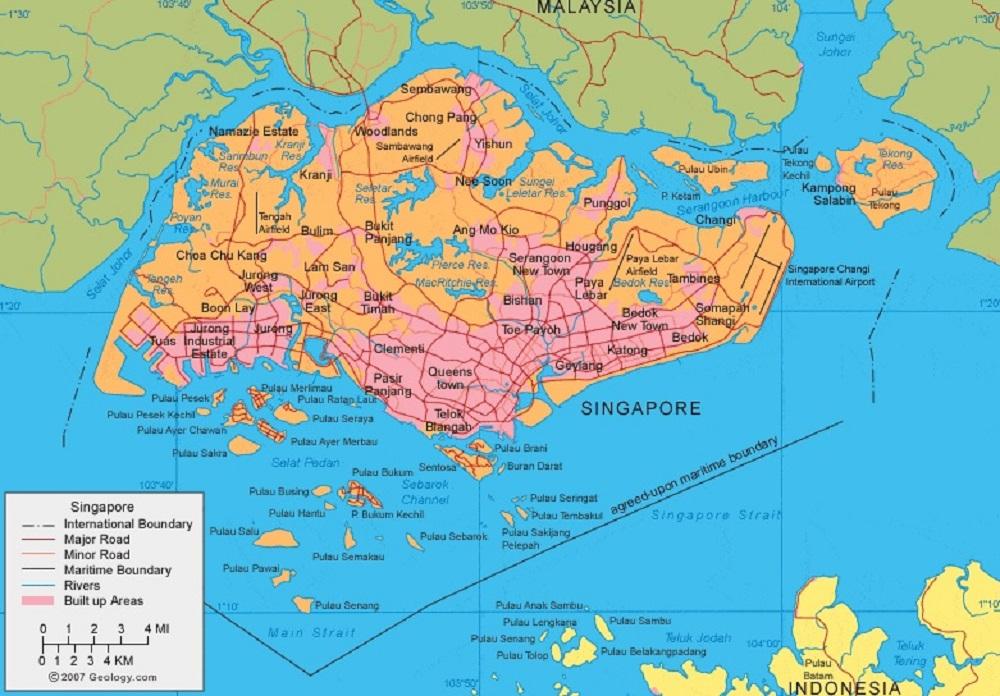 Peta Singapura Lengkap