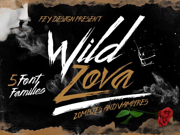 Download Wild Zova Brush Font Free