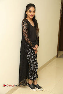 Actress Punarnavi Bhupalam Stills in Black Dress at Pittagoda Press Meet  0133.JPG