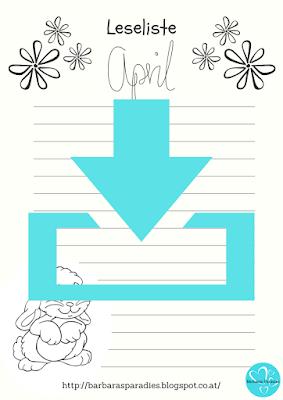 Neu im Download-Bereich: Leselisten für April zum Ausmalen
