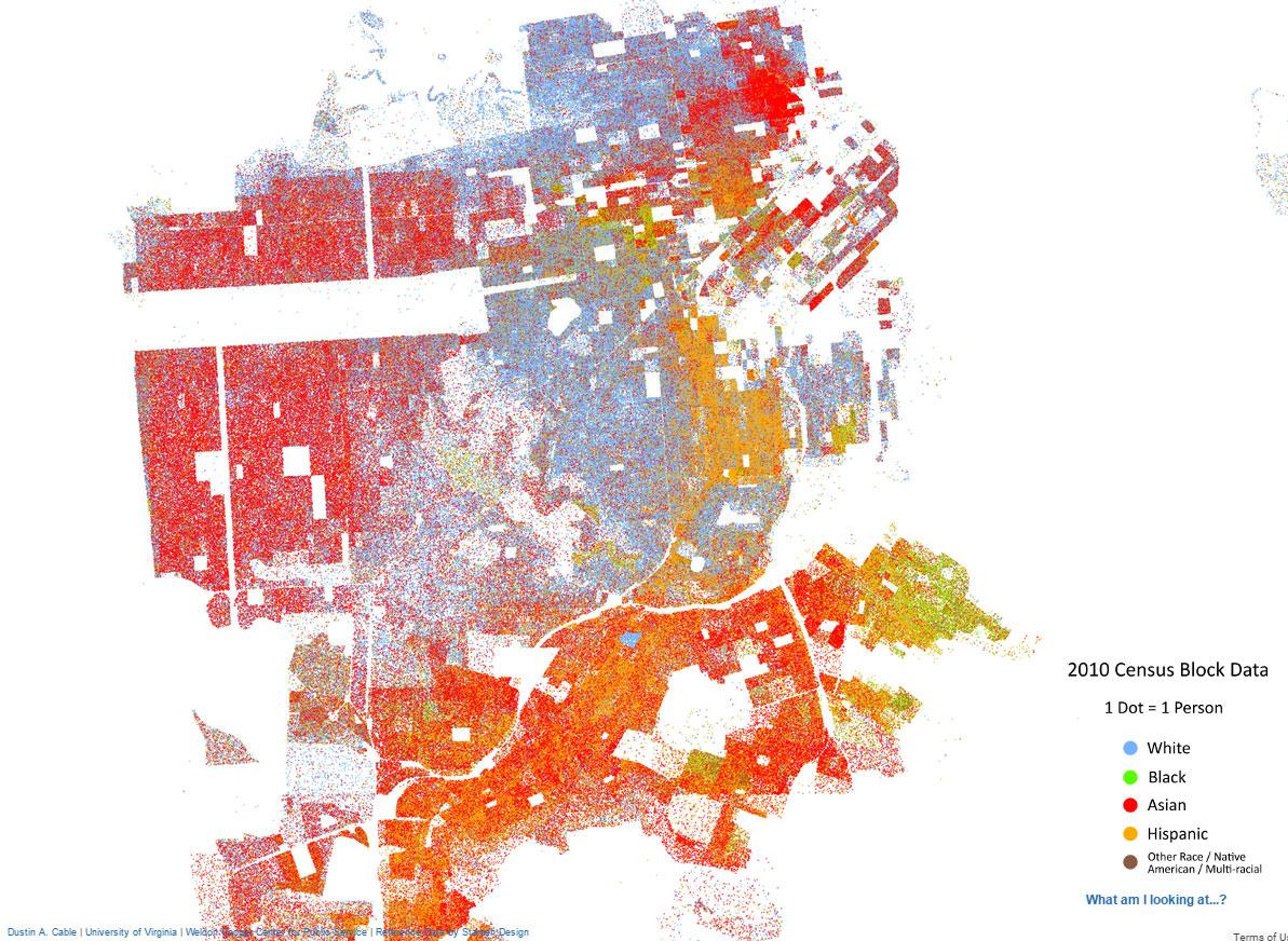racial distribution map 2010 san francisco case