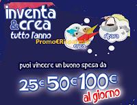 Logo Concorso ''Inventa & Crea tutto l'anno'':  vinci 364 buoni spesa da 25€ , 50€ e 100€