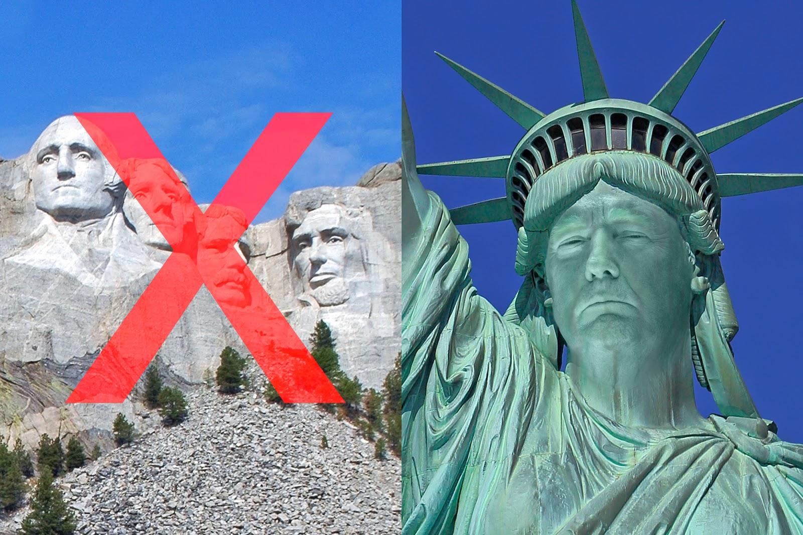 Falls es mit Mount Rushmore nicht klappt: Trump will sein Gesicht auf Freiheitsstatue anbringen lassen
