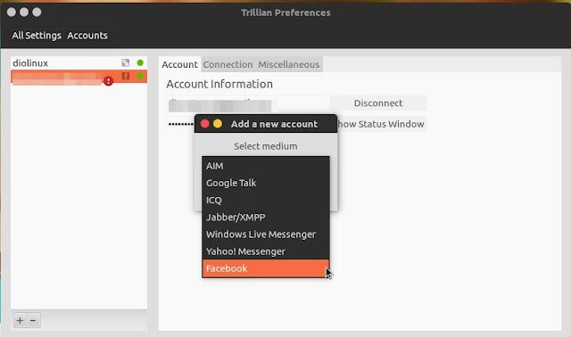 Configurações do Trillian para Linux