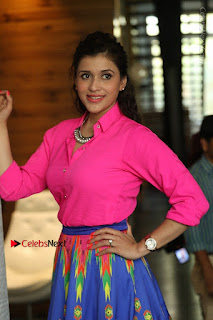 Actress Mannar Chopra in Pink Top and Blue Skirt at Rogue movie Interview  0038.JPG