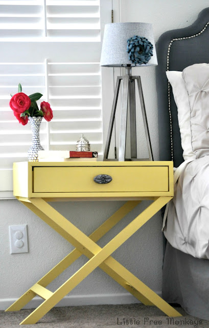DIY x-base accent table free plans