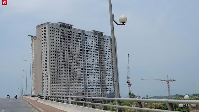 Hình ảnh dự án Xuân Mai Sparks Tower view từ trên cầu vượt