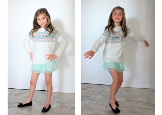 Patatam, jupe Zara et pull H&M