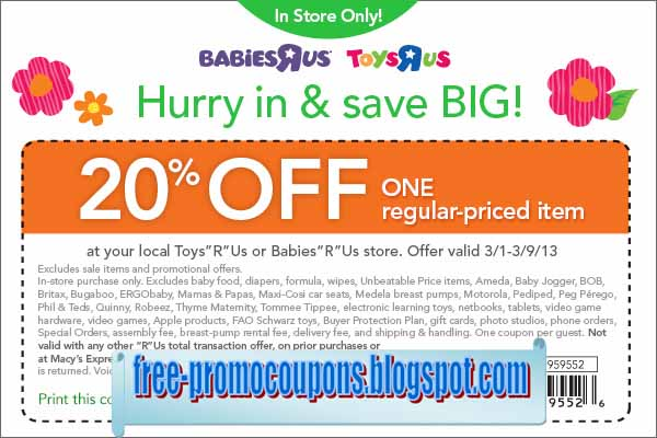Babiesrus coupon codes