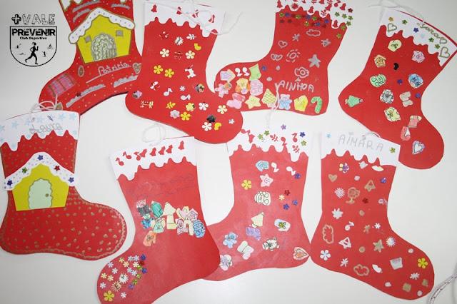 botas navidad niños cartulina