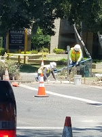 Photo of Team of Workers creating a Curb Cut