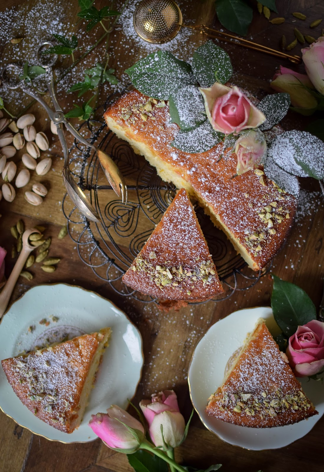 This Persian Love Cake is filled with exotic the flavours of cardamon, saffron and rose water, it truly is a slice of luxury.