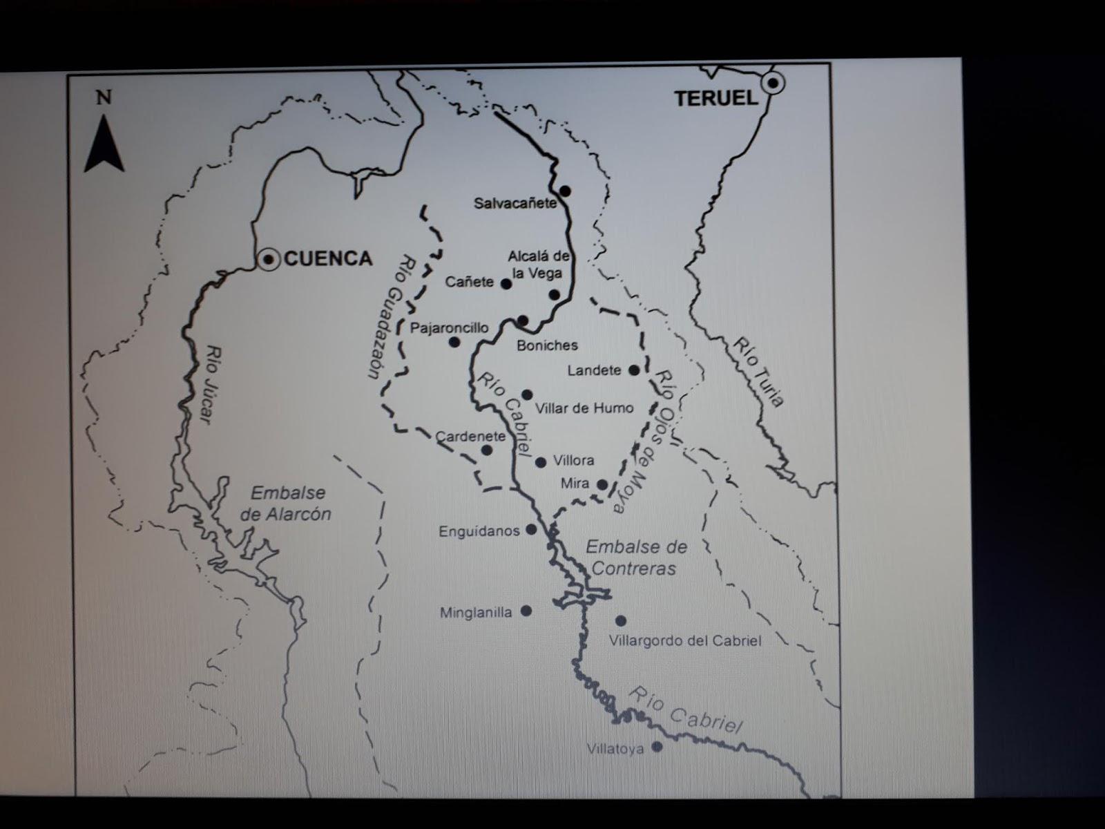 El Vallecillo Teruel Mapa.En Un Jardin Nacimiento Del Rio Cabriel En El Vallecillo Teruel