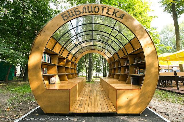 Уличная библиотека появилась в центре Сергиева Посада