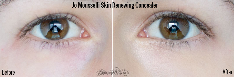 before after jo mousselli skin renewing concealer review