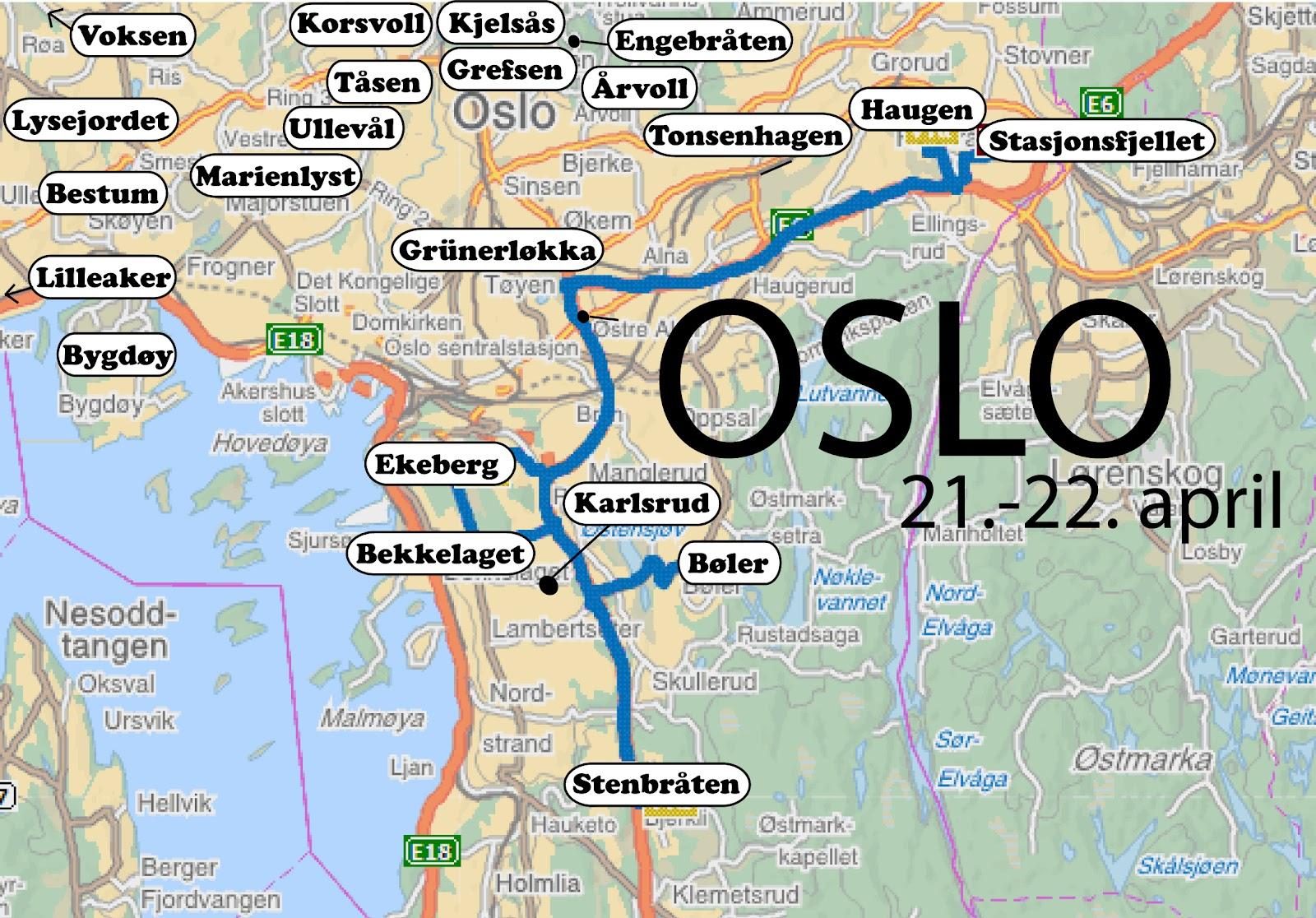 kart over frogner Loppislife: Loppemarkeder i Oslo kart over frogner