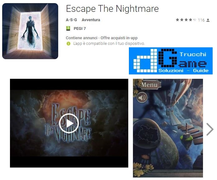 Soluzioni Escape The Nightmare livello 1 2 3 4 5 6 7 8 9 10 | Trucchi e Walkthrough level