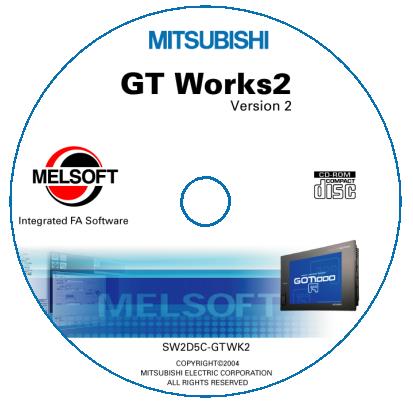 GT WORKS MITSUBISHI MEGA NZ ~ PLC SOFTWARE