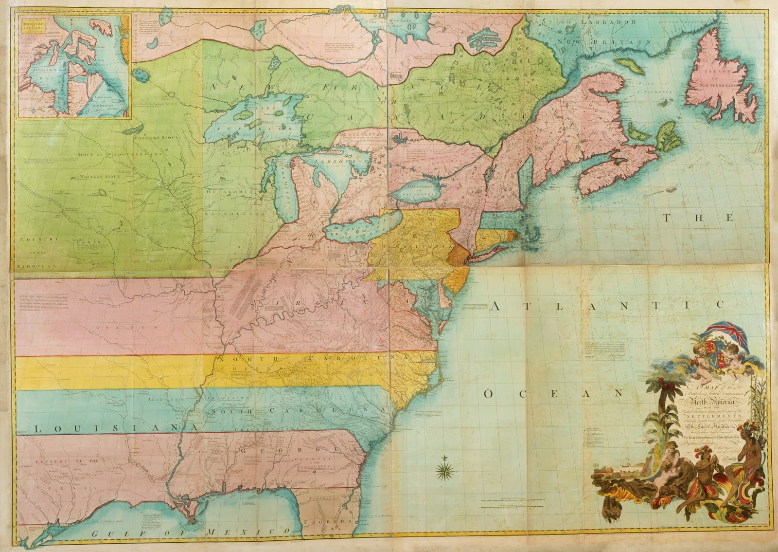 the result was that in february 1755 mitchell s huge map of the british and french dominions in north america was published mitchell not only used the