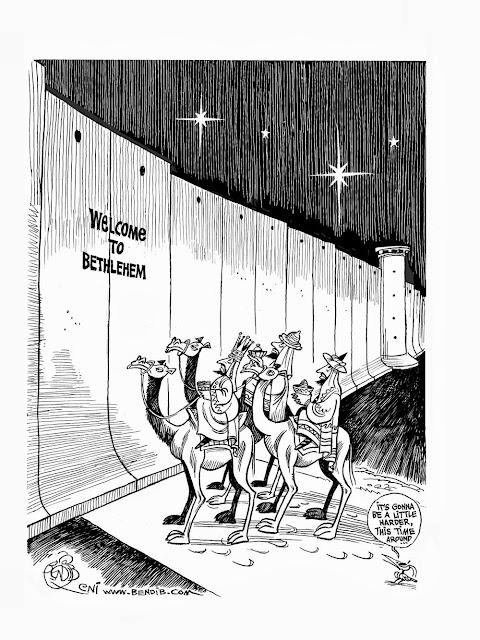 Funny Three Wise Men Bethlehem - Brick Wall