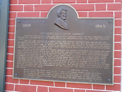 Lincoln's Gettysburg Address Historical Marker
