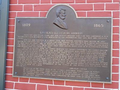 Lincoln's Gettysburg Address Historical Marker