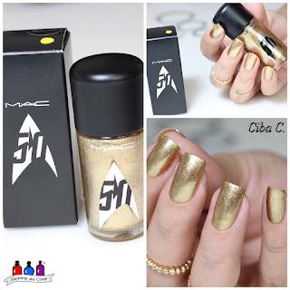 Born Pretty, Cebella, dourado, Gold, Holla-Deck, MAC, Star-Trek, Alquimia das Cores,