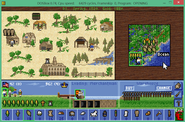 City Screen  | Sid Meier's Colonization Screenshot