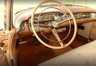 1956 Cadillac Coupe DeVille Interior and Steering Wheel