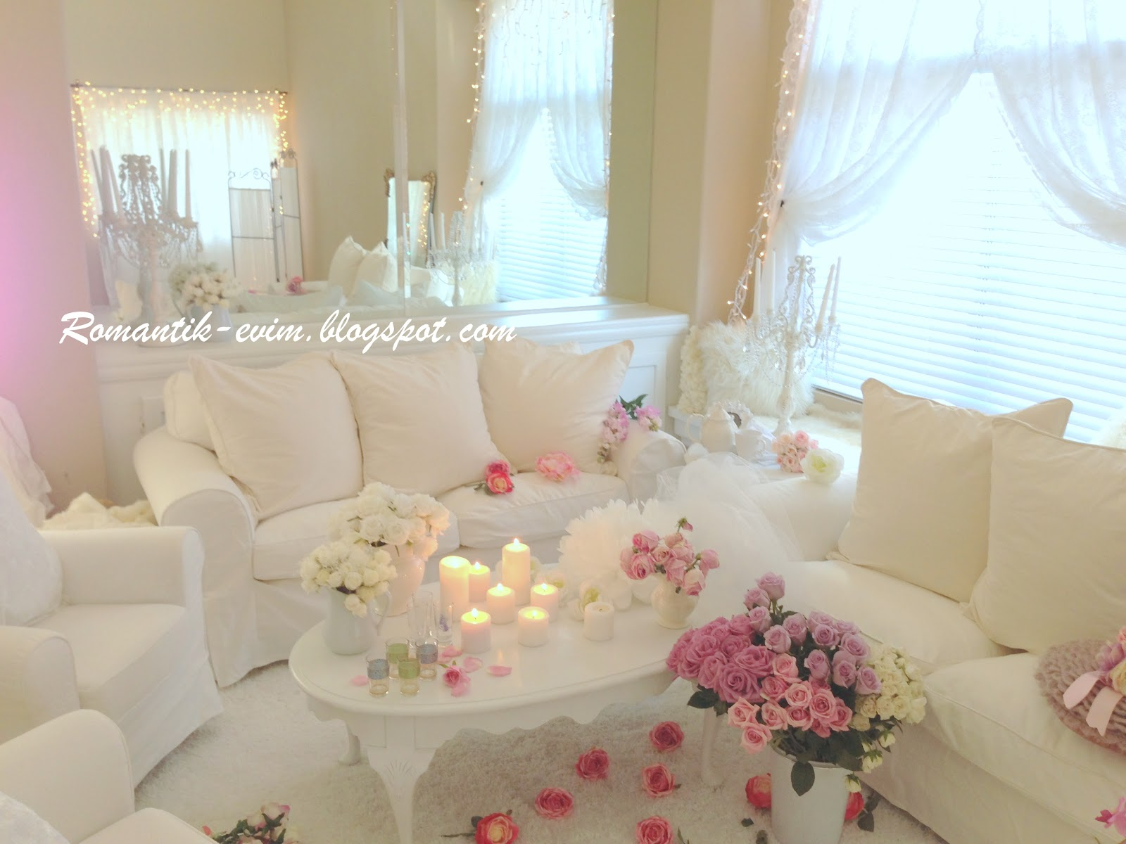 my shabby chic home romantik evim romantik ev romantik ev shabby chic valentine 39 s day home. Black Bedroom Furniture Sets. Home Design Ideas