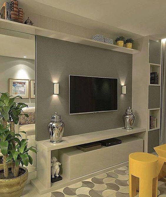 Lovely Room Design: Lovely Living Room Designs With Wall Mounted TV Designs