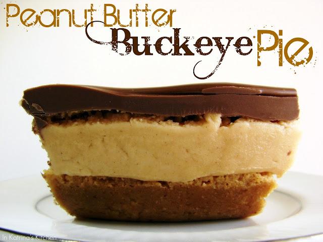 Peanut Butter Buckeye Pie @katrinaskitchen