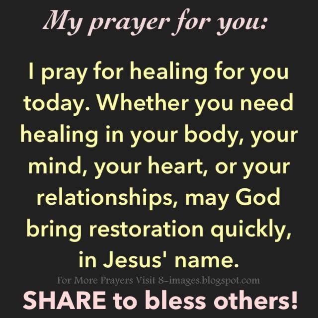 Prayer For Healing And Restoration