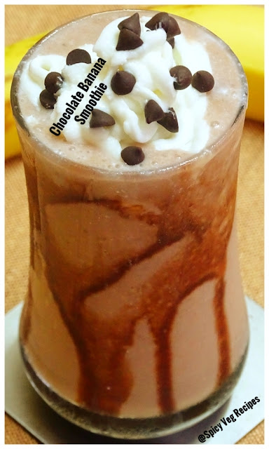 beverages and drinks, fusion, Quick Recipes, Easy Recipes, Quick Recipes, healthy recipes, Kids Recipes, Bachelor Recipes, Banana Recipes, banana, chocolate, milk,Chocolate banana Smoothie Recipe- How to make Chocolate banana Smoothie-Easy Banana Smoothie