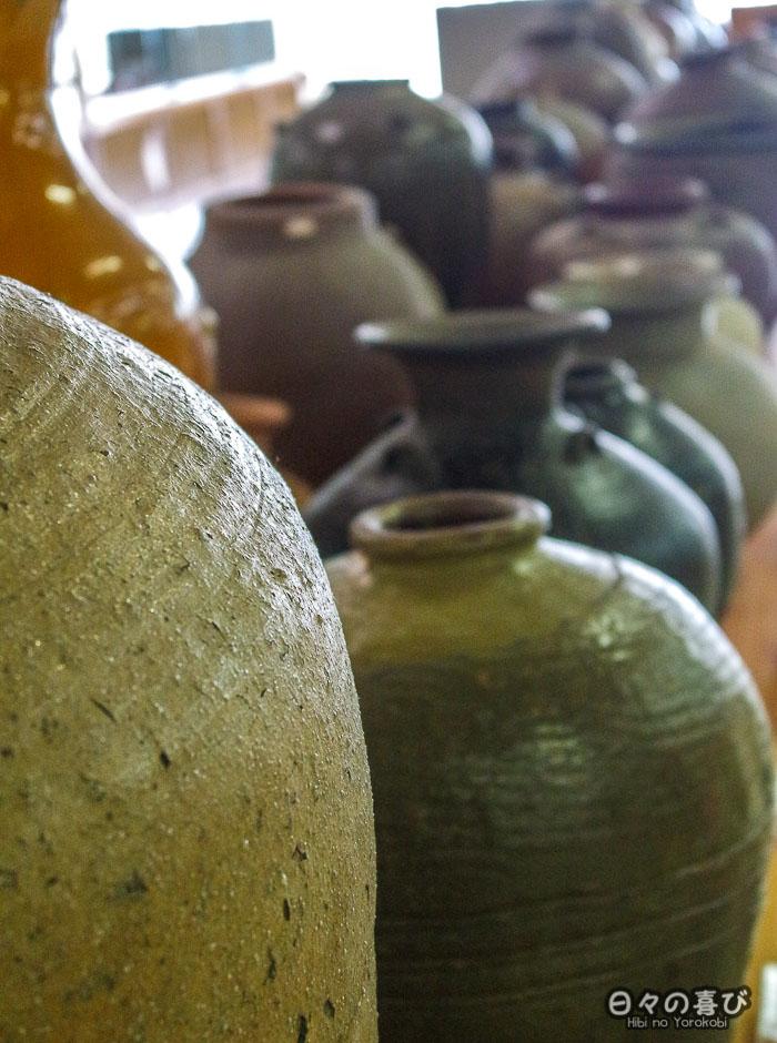 vases alignés musee watanabe tottori