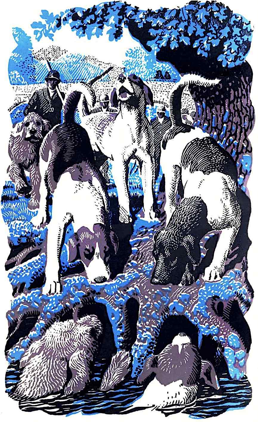 Charles F Tunnicliffe dogs