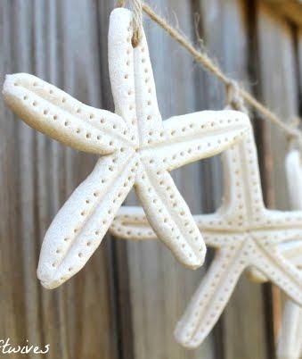 salt dough starfish garland